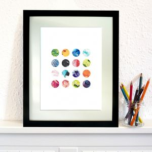 'Marbles' Watercolour Art Print