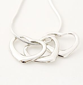 30th Birthday Silver Hearts Necklace