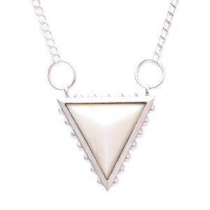 Studded Triangle With Cow Bone Pyramid Necklace