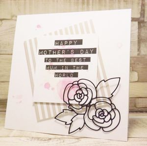 Handmade Flower Outline Mother's Day Card