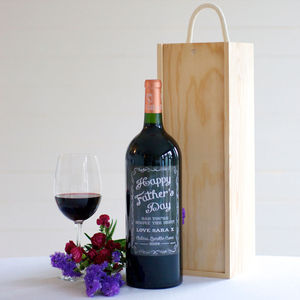 Personalised Magnum Of Bordeaux Wine With Gift Box