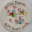 Personalised Christening Or Birth Plate