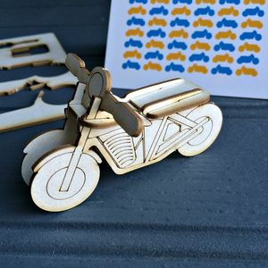 Lasercut 'Pop Out' Retro Motorcycle Card - view all sale items