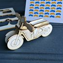 Lasercut 'Pop Out' Retro Motorcycle Card