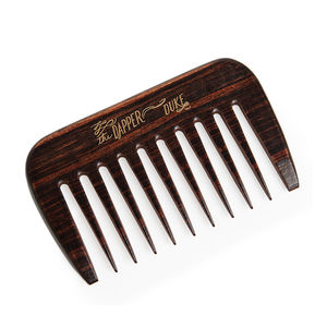 Short Wooden Beard Comb