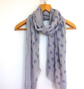 Feint Spotty Scarf - for grandmothers