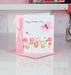 Personalised Pastel Butterfly Mothers Day Card - mother's day cards