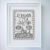 Personalised Wedding Papercut Or Print - home