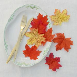 Set Of Twelve Decorative Autumn Leaves - tableware