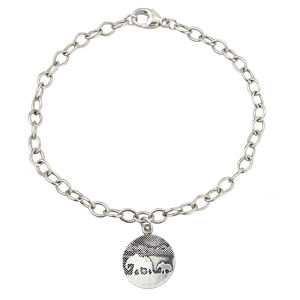 Personalised Mother And Baby Elephant Charm Bracelet - charm jewellery