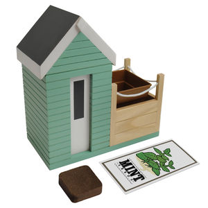 Beach Hut Planter Set With Grow Your Own Mint Kit