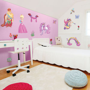 Fairytale King And Queen Princess Wall Stickers