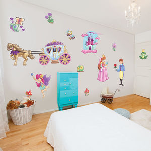 Fairytale Prince And Princess Wall Stickers