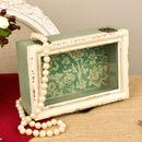 Vintage Green Trinket Box
