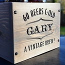 Personalised Engraved Beer Crate