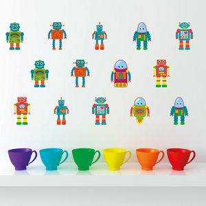 Small Robot Kids Wall Stickers - wall stickers