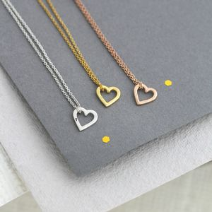 Mini Heart Necklace - personalised gifts for her