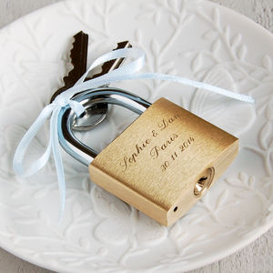 Engraved Love Padlock - wedding favours