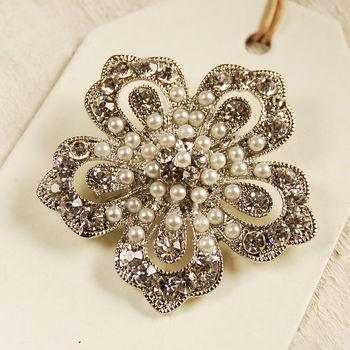 Vintage Style Petal Brooch