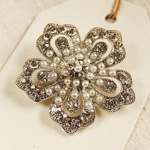 Vintage Style Petal Brooch - pins & brooches