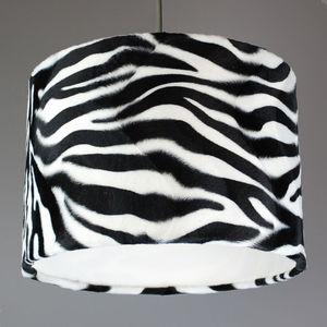 Zebra Print Faux Fur Lampshade - ceiling lights