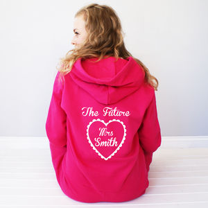 Personalised 'The Future Mrs…' Onesie - the morning of the big day