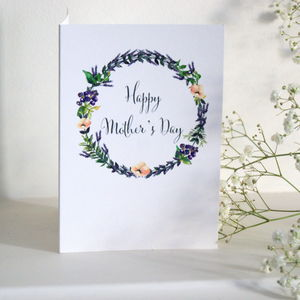 'Happy Mother's Day' Lavender Garland Card