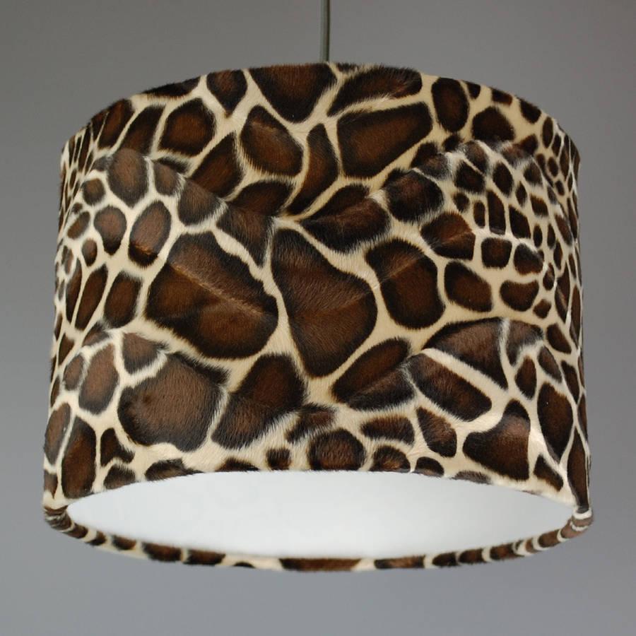 Giraffe Print Lampshade