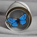 Blue Emperor Wooden Butterfly Necklace