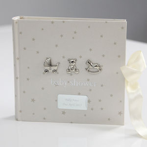 Personalised Baby Shower Photo Album - top 50 new baby keepsakes