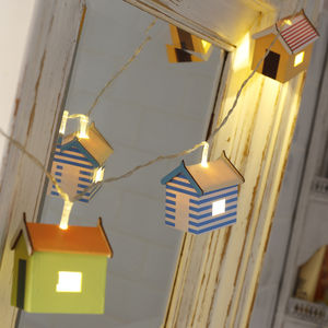 Beach Hut Fairy Lights - children's room accessories