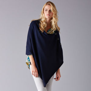Baby Alpaca Button Poncho - women's fashion