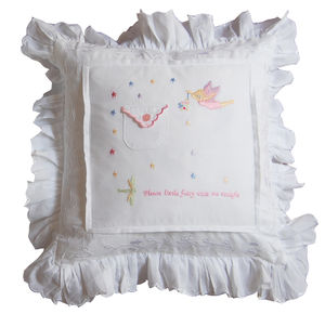 Personalised New Baby Keepsake Fairy Cushion