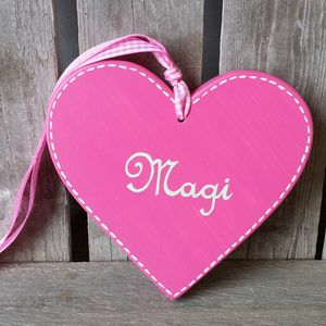 Personalised Name Heart - wedding favours
