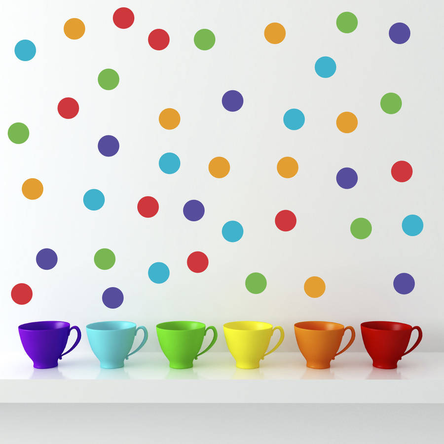 polka dot wall stickers by mirrorin notonthehighstreet com gold polka dots spot wall sticker