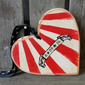 Personalised Circus Wedding Heart