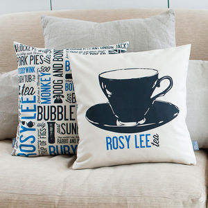 'Rosy Lee' Cockney Cushion - patterned cushions