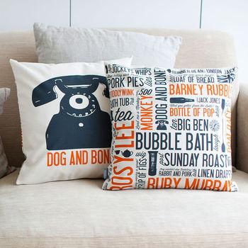 'Dog And Bone' Cockney Cushion