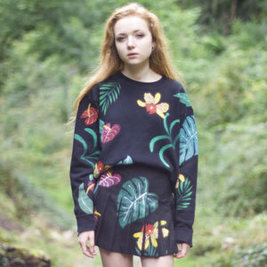 Hand Painted Bright Tropical Co Ords Sweater - jumpers & cardigans