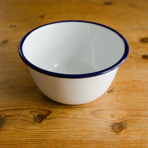 Traditional Enamel Pudding Bowl - picnicware