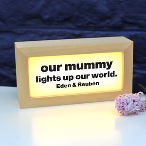 Personalised Light Box - less ordinary wall art