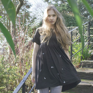 Hand Painted Badger Smock Dress - dresses