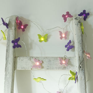 Stunning Felt Butterfly Lights - children's lighting