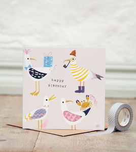 Stanley Seagull Birthday Card