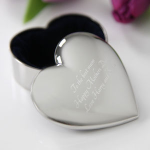 Engraved Heart Trinket Box - jewellery storage & trinket boxes