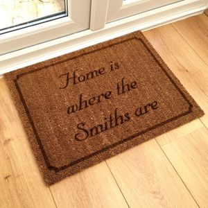 Personalised 'Home Is Where' Doormat