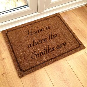 Personalised 'Home Is Where' Doormat