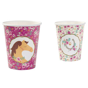 Pony Party Picnic Cups - children's tableware
