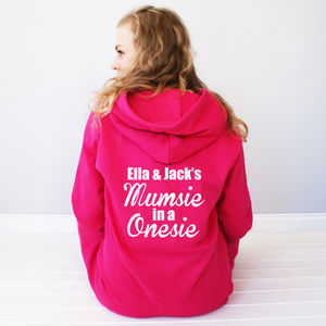 Personalised 'Mumsie In A Onesie' - women's fashion