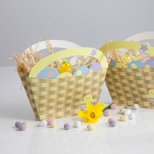 Set Of Four Easter Egg Hunt Baskets